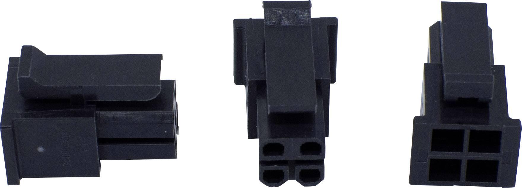 Zásuvkový konektor na kabel BellWether 70093-0400, pólů 4, rozteč 3 mm, 1 ks