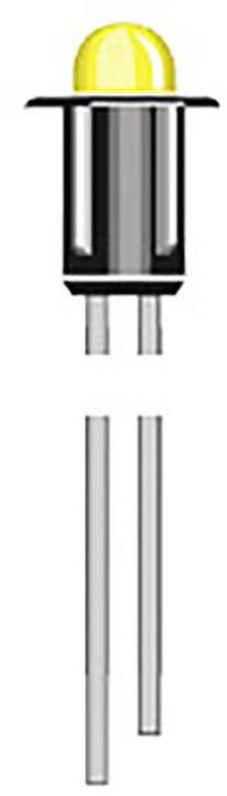 Indikační LED Oshino MD-302R, 2.1 V/DC, červená