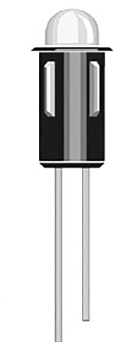 Indikační LED Oshino MD-557R, 2.1 V/DC, červená