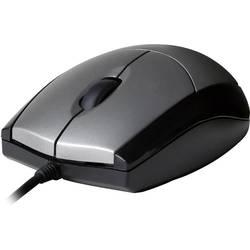 Optická Wi-Fi myš V7 Videoseven MV3000010-5EC MV3000010-5EC, černá, stříbrná
