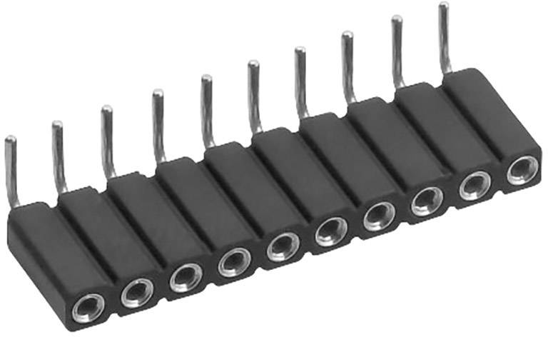 Zásuvková lišta (precízna) TRU COMPONENTS TC-0308004-1-50-00 TC-0308-004-1-50-00, řádky 1, kontakty na řádek 4, 1 ks
