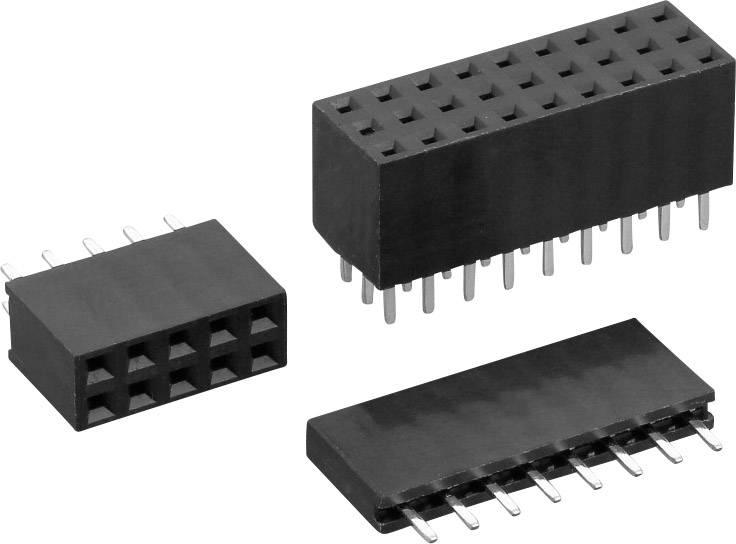 Zásuvková lišta (štandardná) TRU COMPONENTS TC-0314157-08-1-00, řádky 1, kontakty na řádek 8, 1 ks