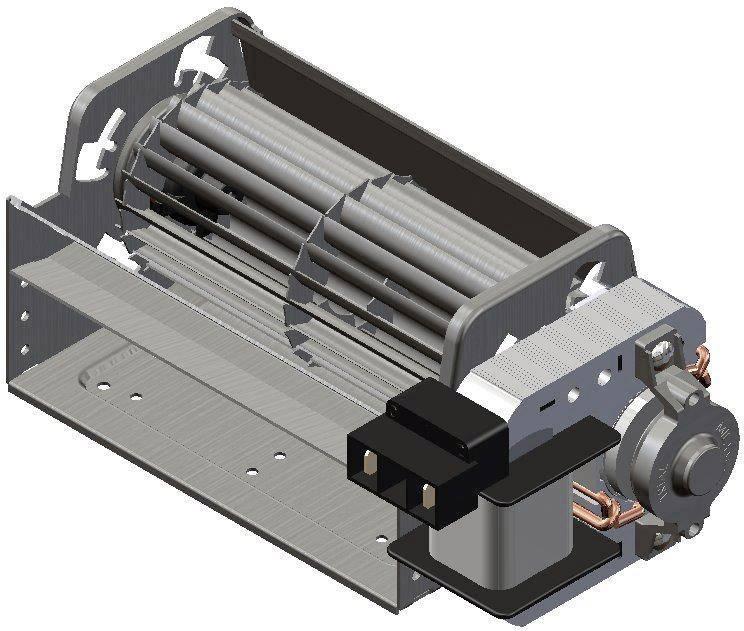 Tangenciání ventilátor motor vpravo 230 V/AC Trial TAS12B-008-00