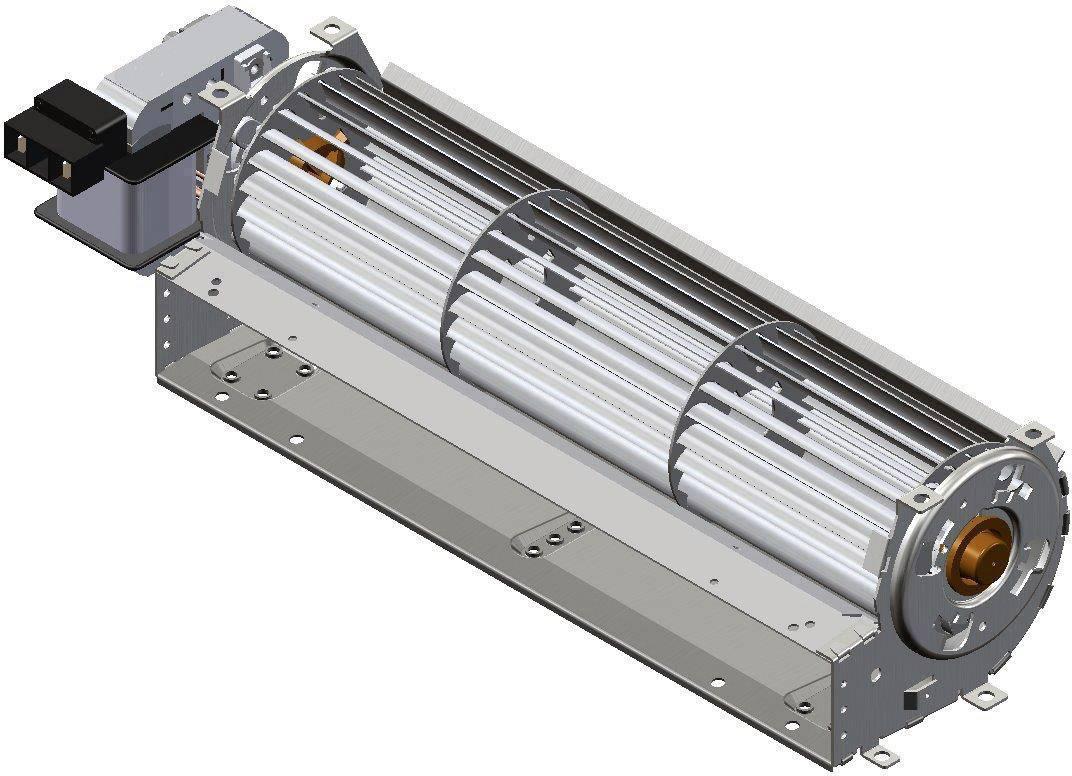 Tangenciání ventilátor motor vlevo 230 V/AC Trial TAS27B-051-00