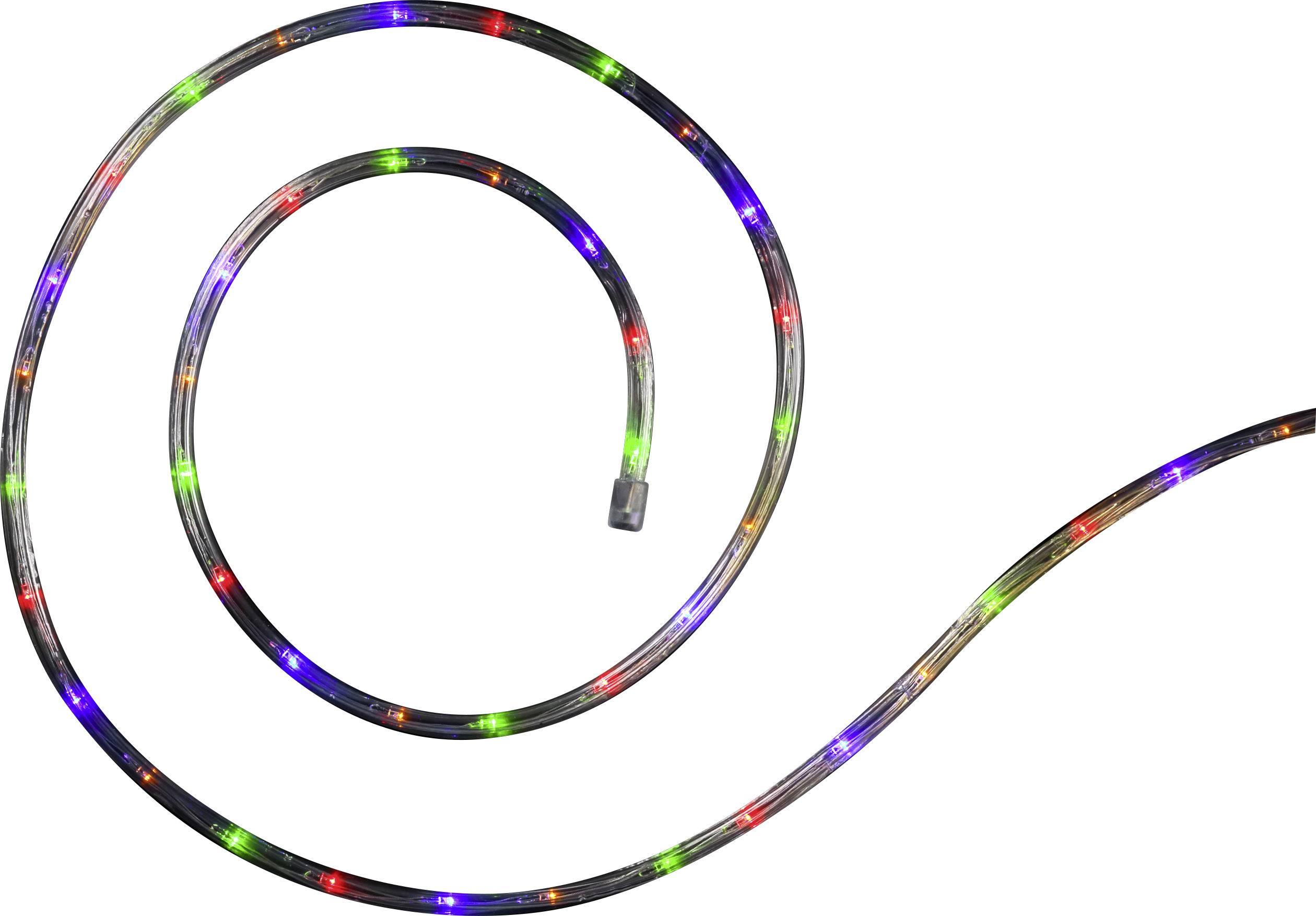LED solární světelná hadice Polarlite venkovní, solární napájení, LED 120, vícebarevná, 7 m
