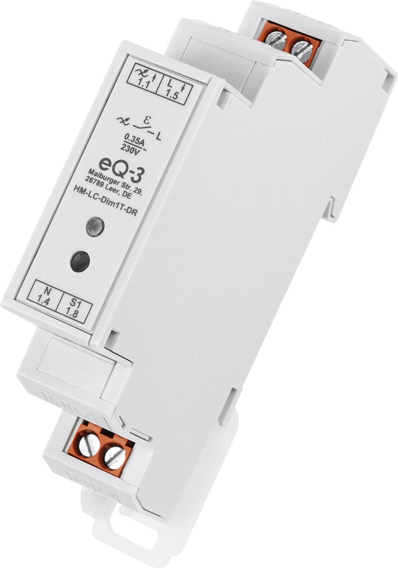 Bezdrôtový stmievač HomeMatic HM-LC-Dim1T-DR, max. dosah 140 m, 80 W