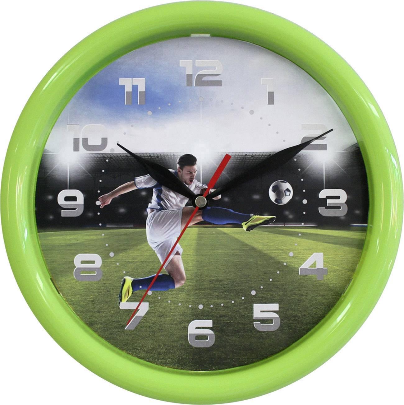 Quartz nástěnné hodiny EUROTIME 80090, vnější Ø 250 mm, zelená