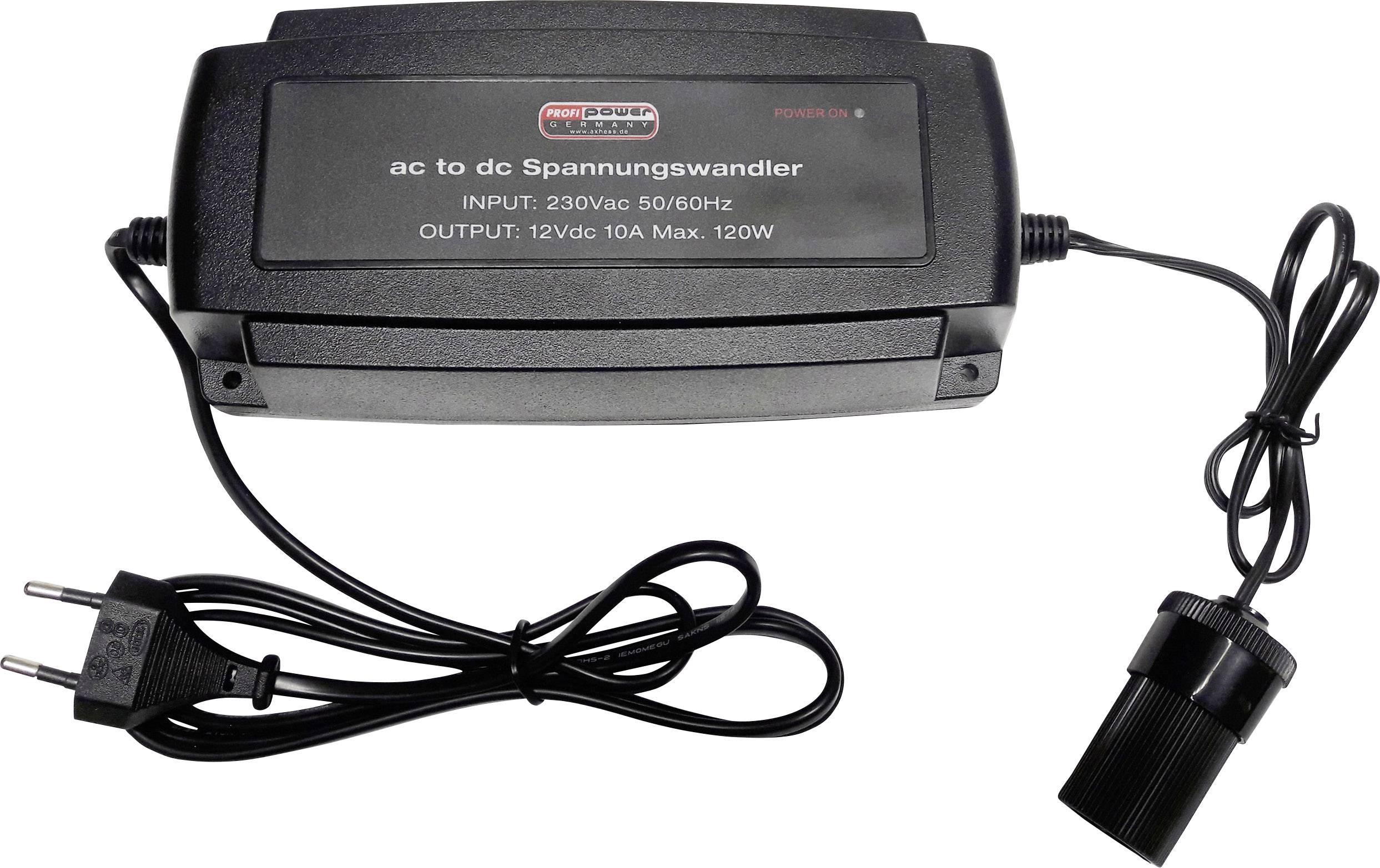 Menič napätia Profi Power Converter 10A, (d x š x v) 210 x 95 x 55 mm, 1 ks, čierna