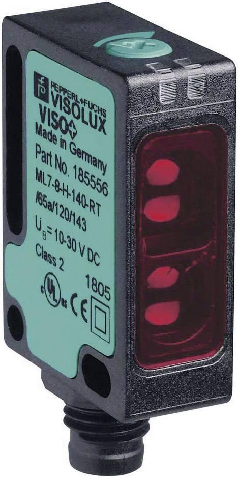 Reflexný optický snímač série 7.a Pepperl & Fuchs ML7-8-H-140-RT/65A/120/143, konektor M8
