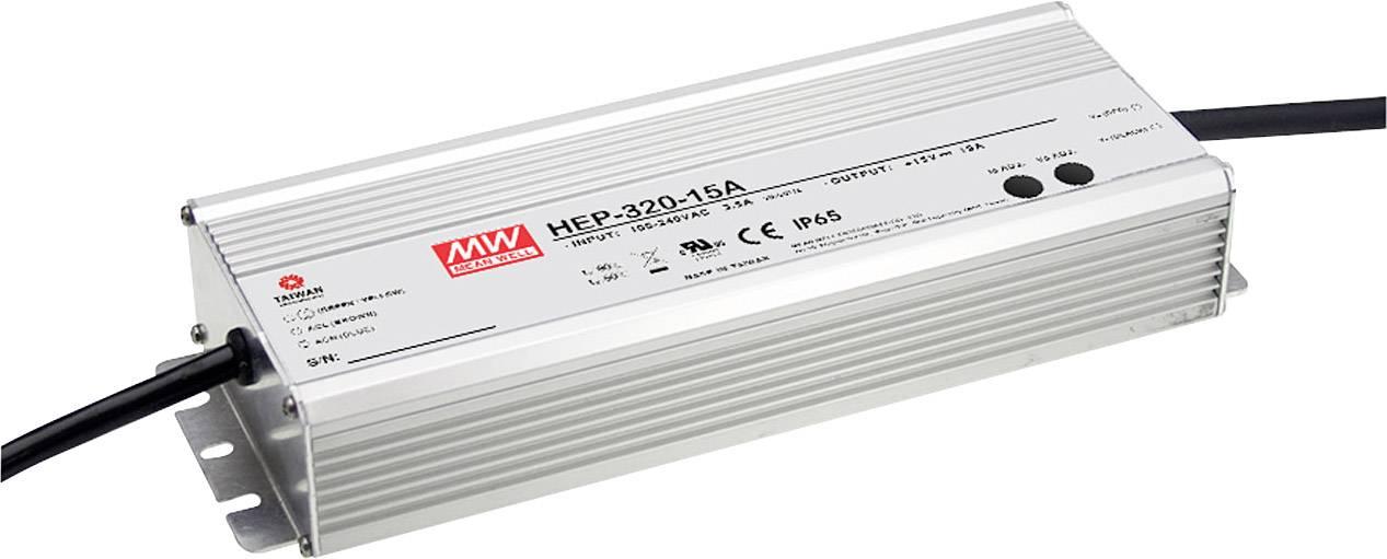AC/DC vestavný zdroj Mean Well HEP-320-48A, 48 V/DC, 6700 mA, 320 W, otevřené konce kabelu