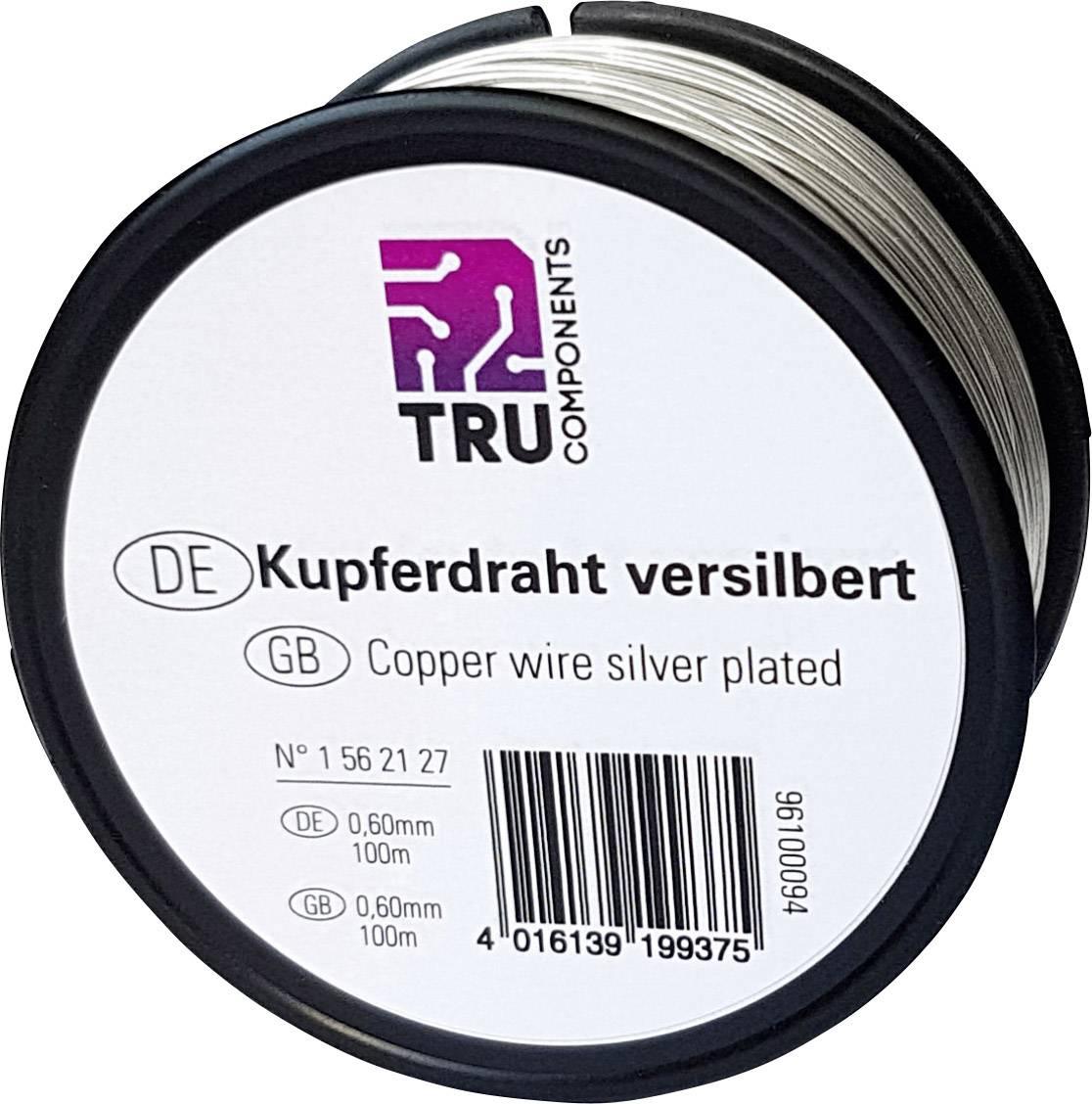 Medený drôt TRU COMPONENTS 1562122, 22 m