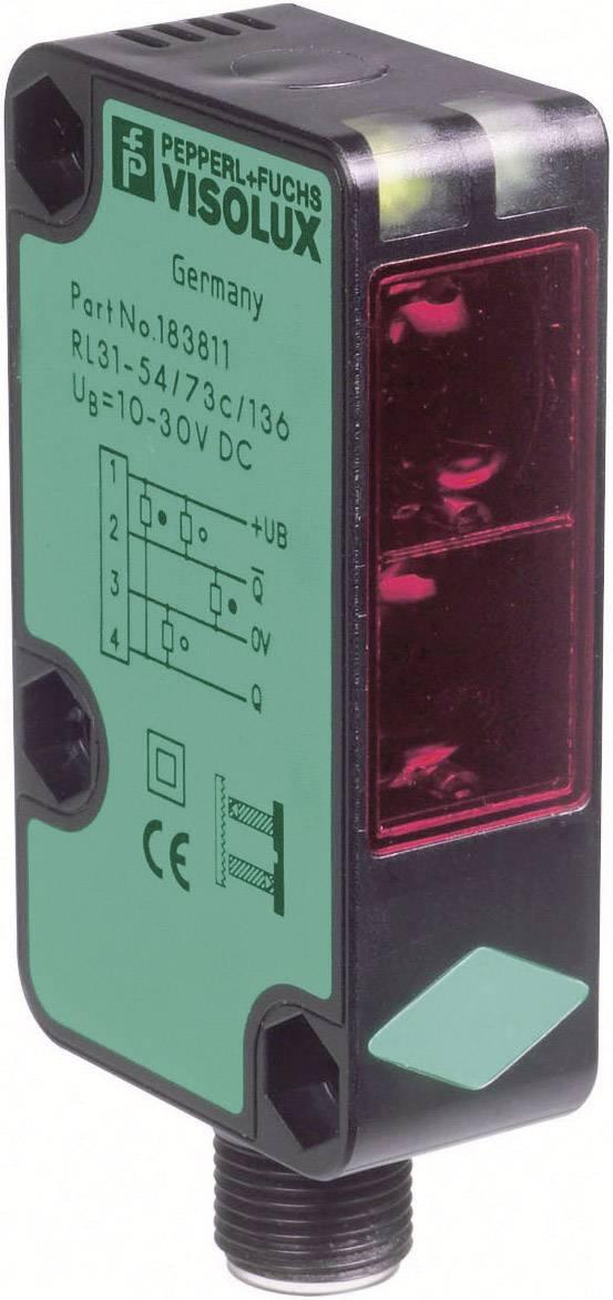 Reflexní optická závora série RL31 Pepperl & Fuchs RL31-54/73C/136, konektor M12, dosah 9 m