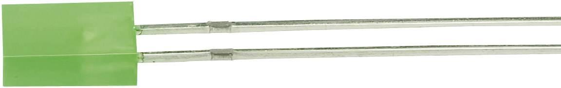 LEDsvývodmi Everlight Opto 523-2SDRD/S530-A3, 523-2SDRD/S530-A3, typ čočky pravouhlý, 2 x 5 mm, 120 °, 20 mA, 16 mcd, 2 V, červená