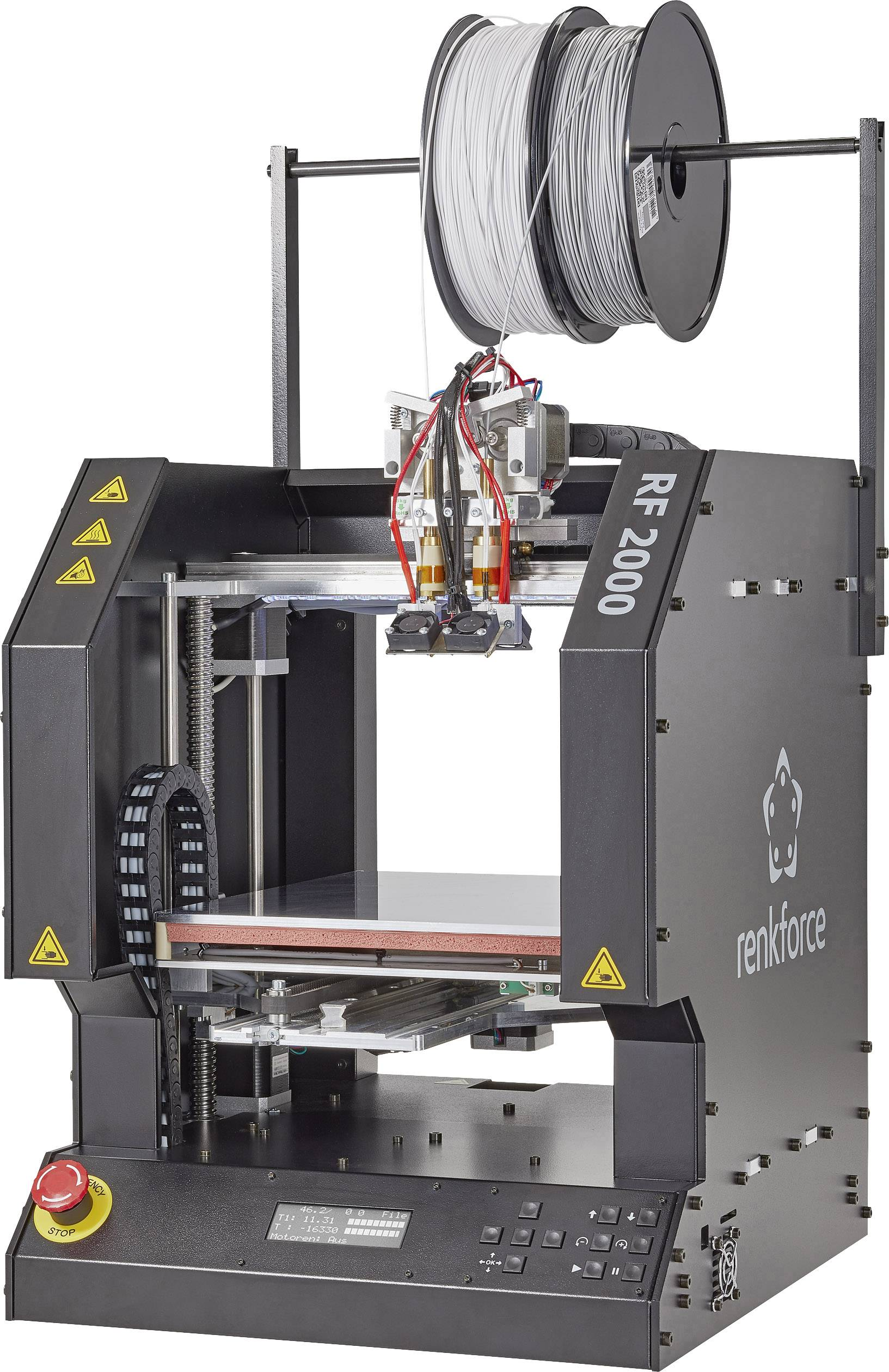 3D tiskárna Renkforce RF2000v2 FGD, zdokonalená verze, 2 extrudéry