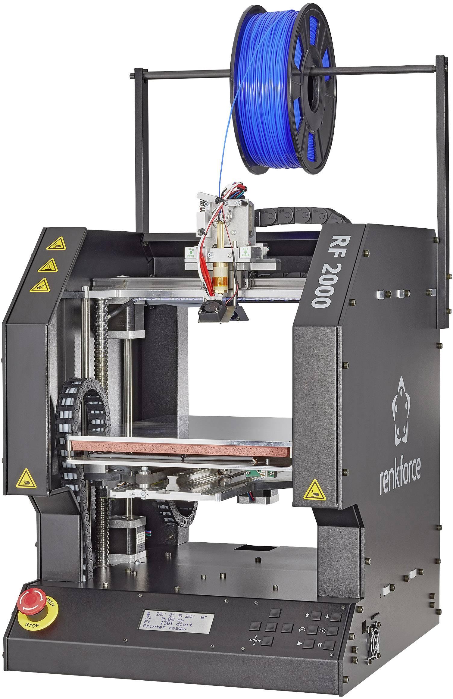 Stavebnice 3D tiskárny Renkforce RF2000v2 BSS, zdokonalená verze, 1 extrudér
