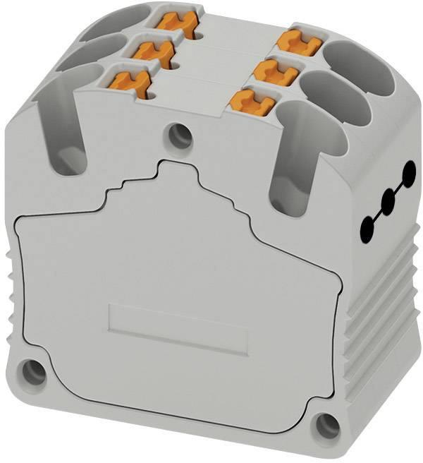 Distribučný blok na lištu Phoenix Contact PTFIX 6X1,5 RD 3002765, 20 ks, červená