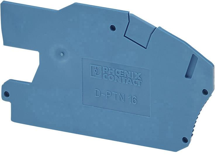 Koncová zátka Phoenix Contact D-PTN 16/S 3214028, 50 ks