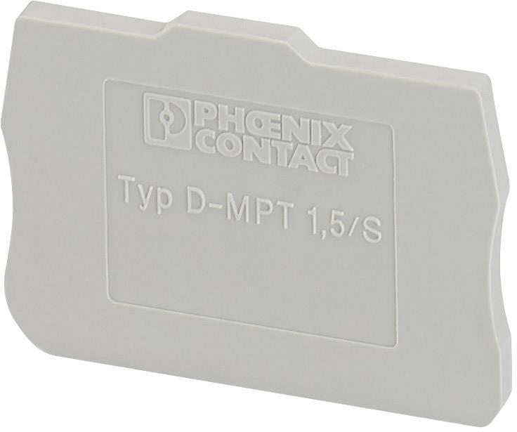 Koncová krytka D-MPT 1,5/S Phoenix Contact D-MPT 1,5/S 3248120, 50 ks