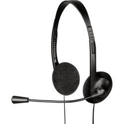 Headset k PC jack 3,5 mm na kabel, stereo Hama HS-101 na uši černá