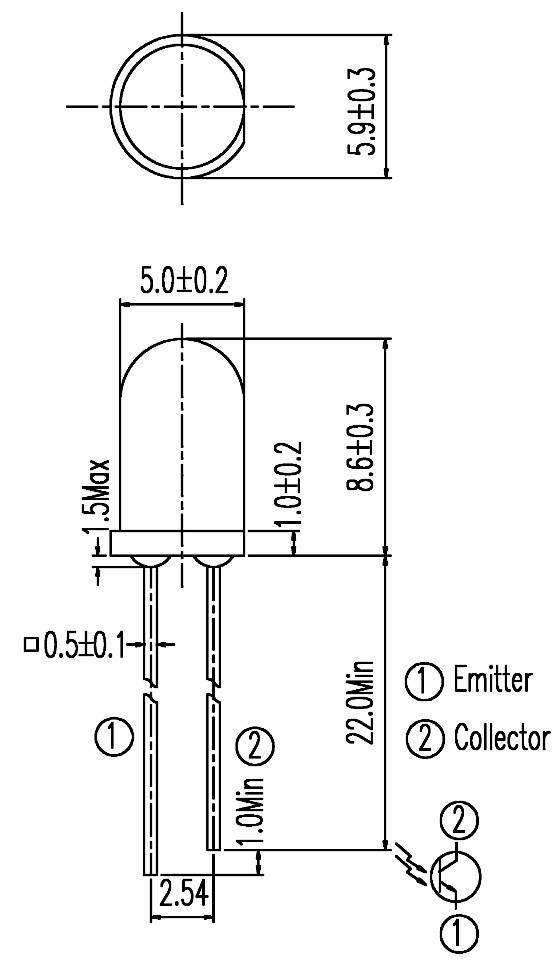 IR fototranzistor PD333-3C/H/OL2