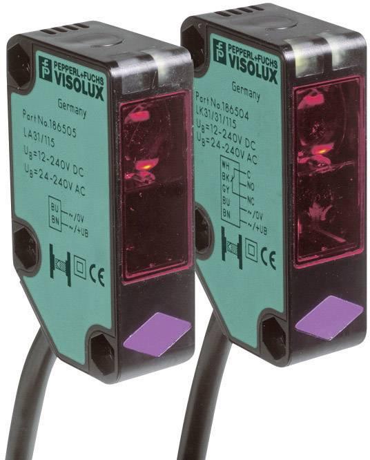 Jednocestná optická závora Pepperl & Fuchs LA31/LK31/25/31/115 SET2, světlo zap., dosah 30 m