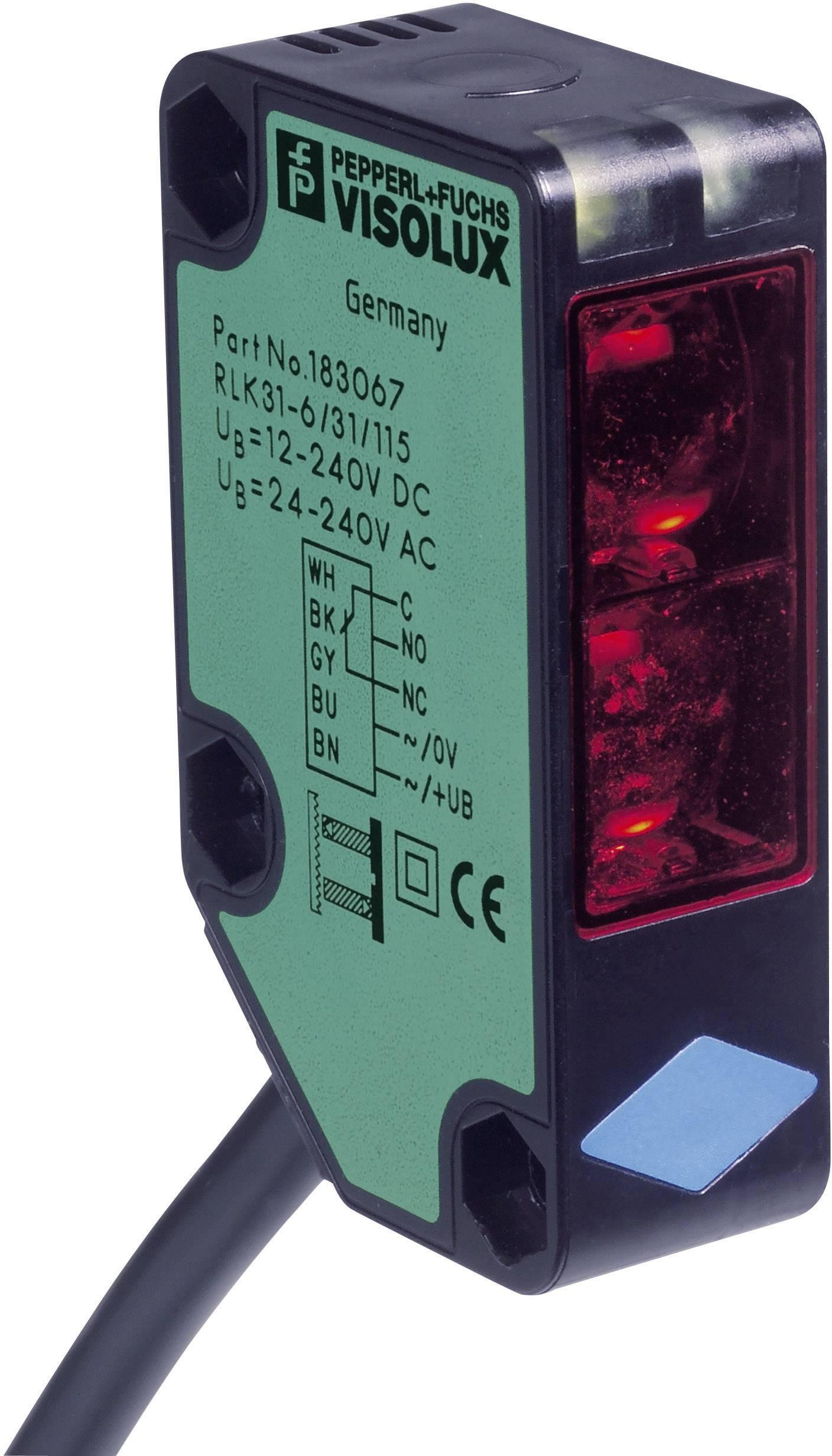 Reflexní optická závora Pepperl & Fuchs RLK31-54/25/31/115-15M SET, světlo zap., dosah 9 m