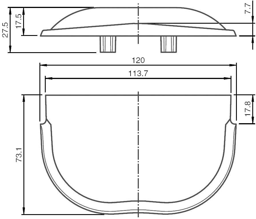 Venkovní ochraný kryt P&F pro radarový detektor pohybu RaDec-M (156451)