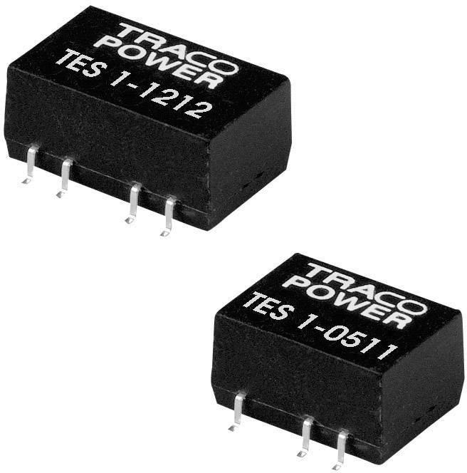 DC/DC měnič TracoPower TES 1-0512, vstup 5 V/DC, výstup 12 V/DC, 85 mA, 1 W