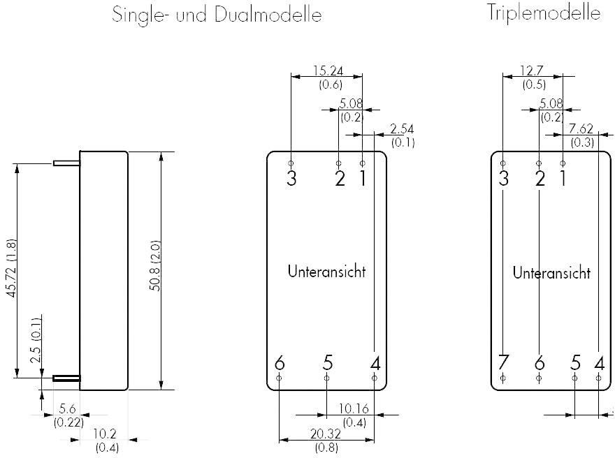 DC/DC měnič TracoPower TEN 30-2423WIN, vstup 9 - 36 V/DC, výstup ±15 V/DC, ±1000 mA, 30 W