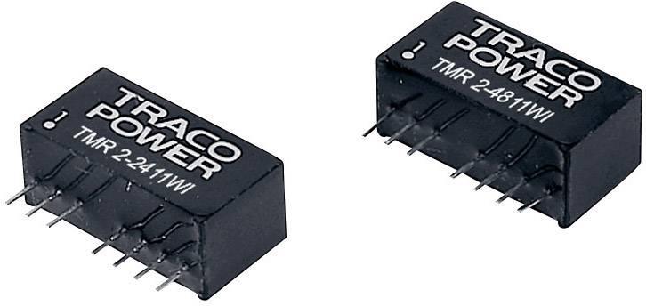 DC/DC měnič TracoPower TMR 2-4822WI, vstup 18 - 75 V/DC, výstup ±12 V/DC, ±85 mA, 2 W