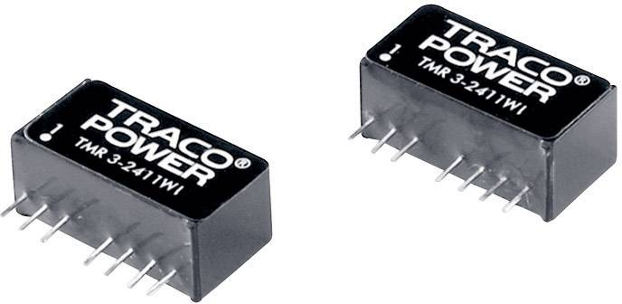 DC/DC měnič TracoPower TMR 3-2412WI, vstup 9 - 36 V/DC, výstup 12 V/DC, 250 mA, 3 W