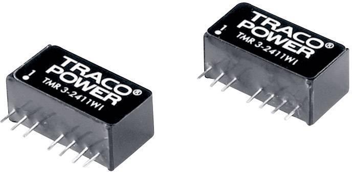 DC/DC měnič TracoPower TMR 3-2423WI, vstup 9 - 36 V/DC, výstup ±15 V/DC, ±100 mA, 3 W