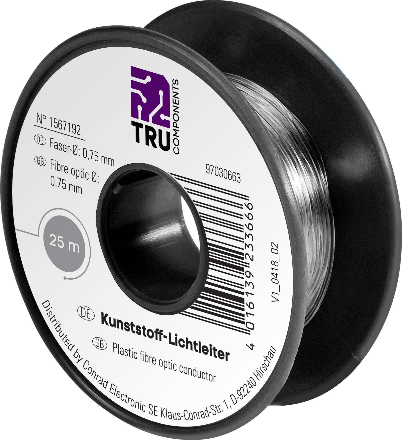 Optický kabel POF TRU COMPONENTS LWL 1567193, Simplex, 50 m
