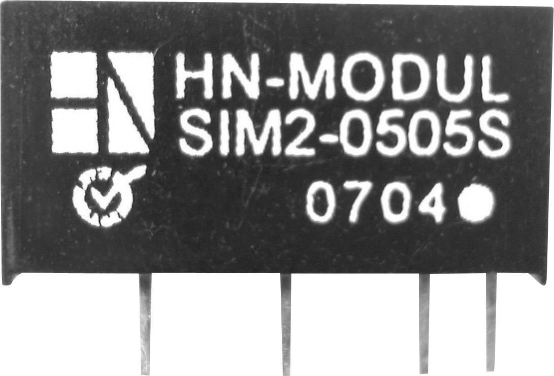 DC/DC měnič HN Power SIM2-1205D-SIL7, vstup 12 V, výstup ± 5 V, ± 200 mA, 2 W