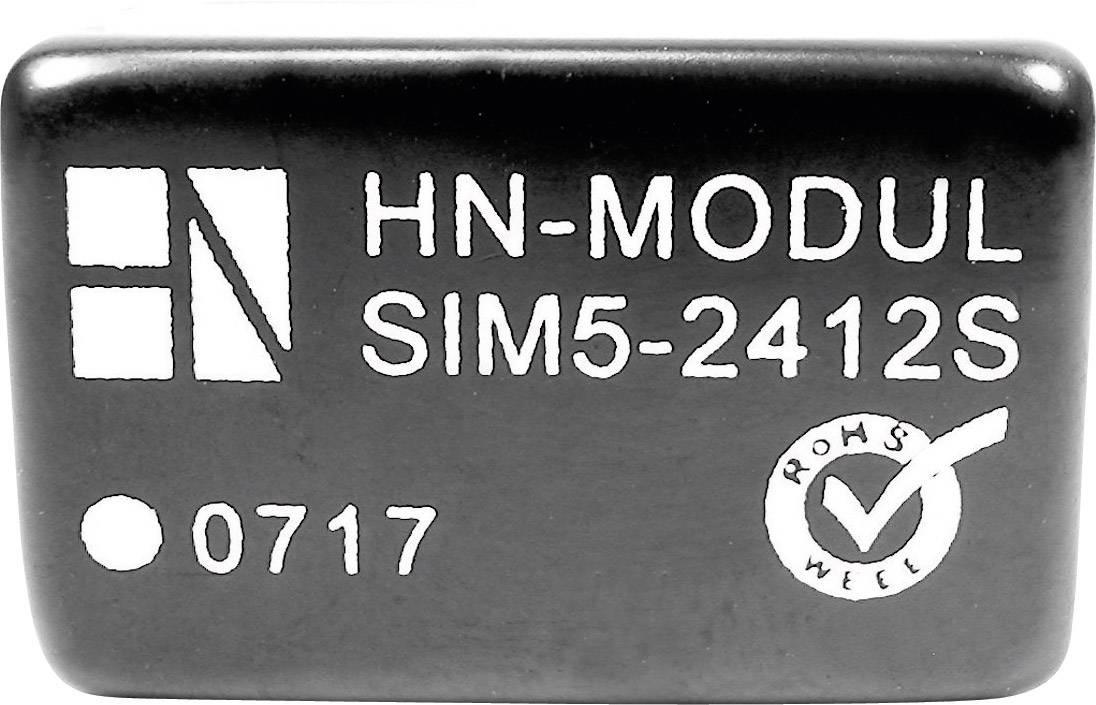 DC/DC měnič HN Power SIM5-2412S, vstup 24 V, výstup 12 V, 250 mA, 3 W