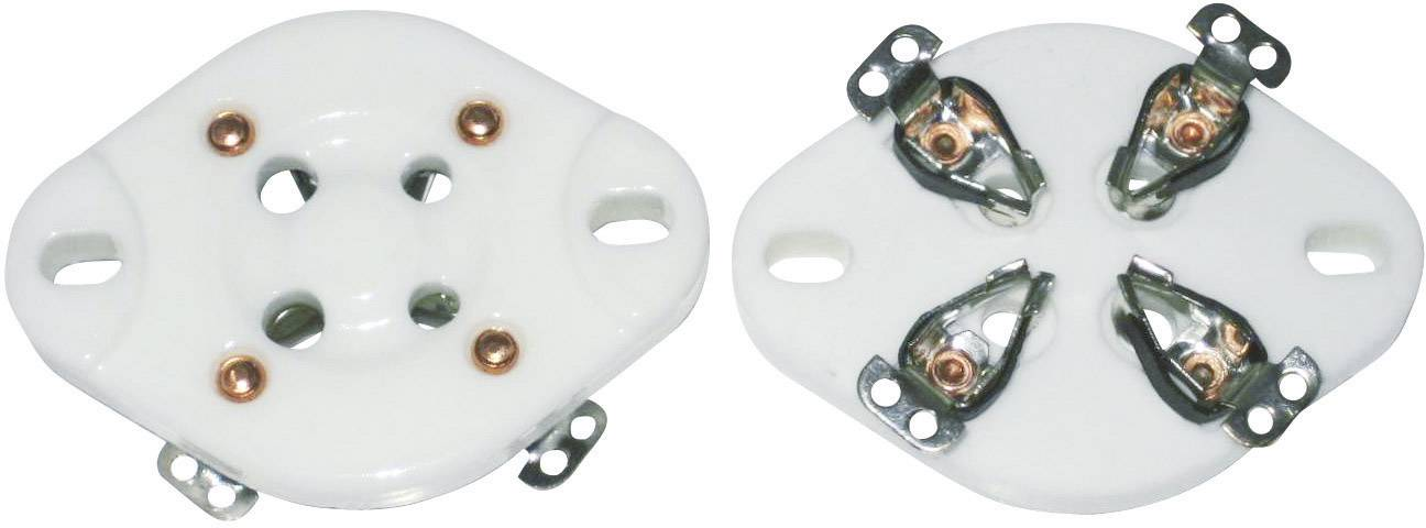 Elektronková patice, 4pinová, základna UX-4