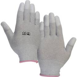 ESD rukavice TRU COMPONENTS EPAHA-RL-S, s povrchovou úpravou na špičkách prstů, vel. S, polyamid