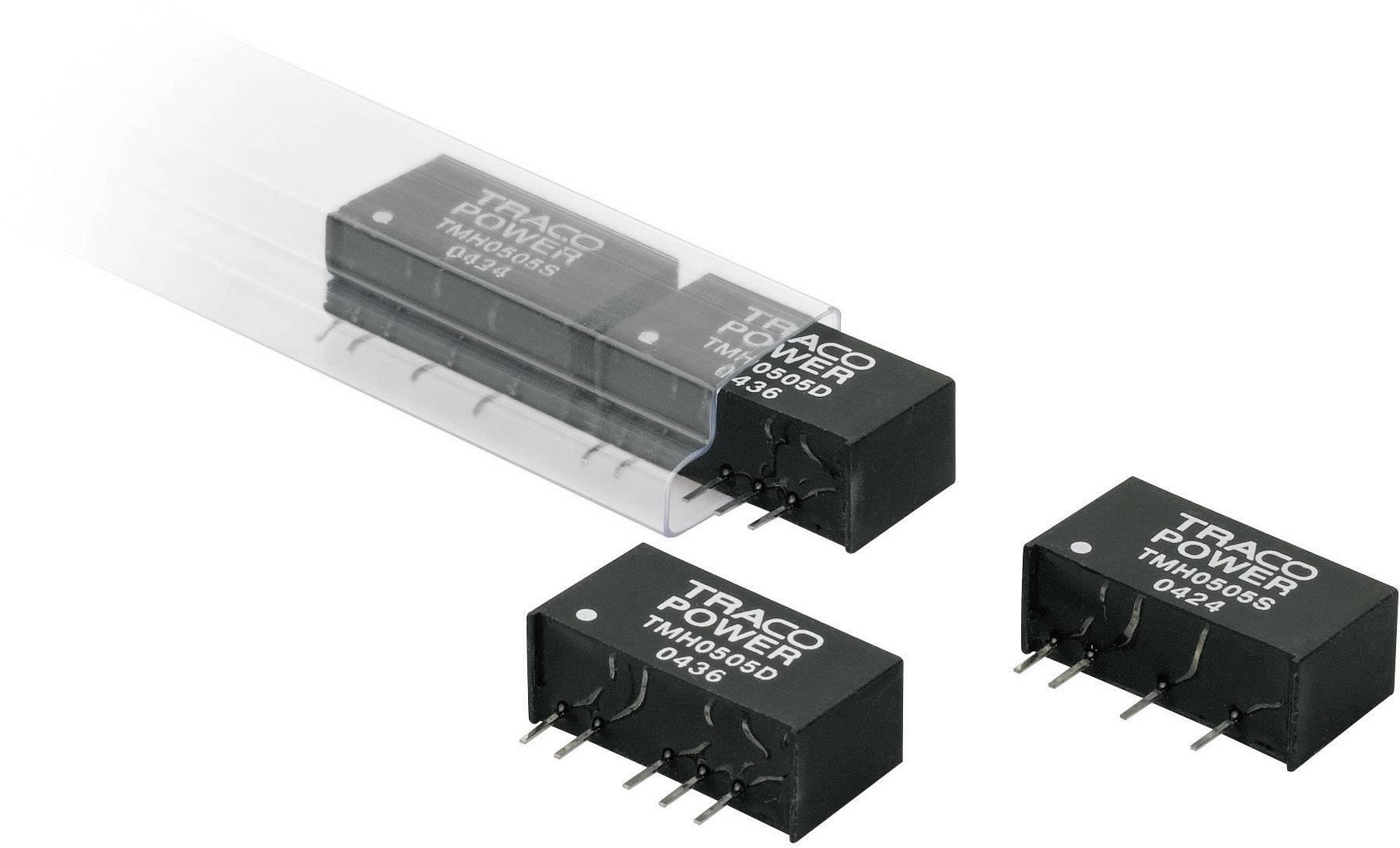 DC/DC měnič TracoPower TMH 0505D, vstup 5 V/DC, výstup ±5 V/DC, ±200 mA, 2 W