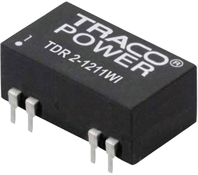 DC/DC měnič TracoPower TDR 2-1211WI, vstup 4,5 - 18 V/DC, výstup 5 V/DC, 400 mA, 2 W, DIL-14