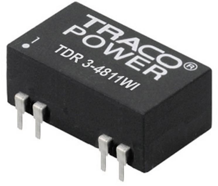 DC/DC měnič TracoPower TDR 3-1211WI, vstup 4,5 - 18 V/DC, výstup 5 V/DC, 600 mA, 3 W, DIL-14