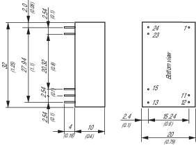 DC/DC měnič TracoPower THP 3-4822, vstup 18 - 80 V/DC, výstup ±12 V/DC, ±125 mA, 3 W