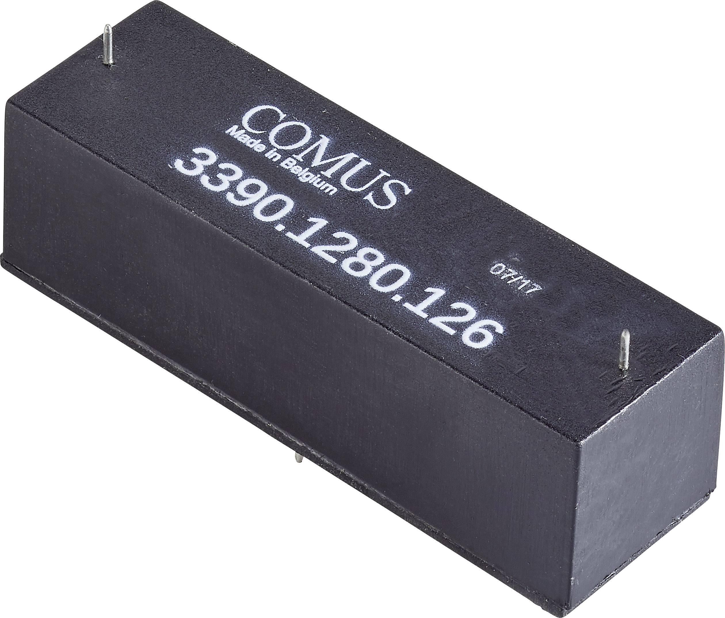 Relé s jazýčkovým kontaktem Comus 3390-1280-246, 3390-1280-246, 1 spínací kontakt, 24 V/DC, 3 A, 50 W