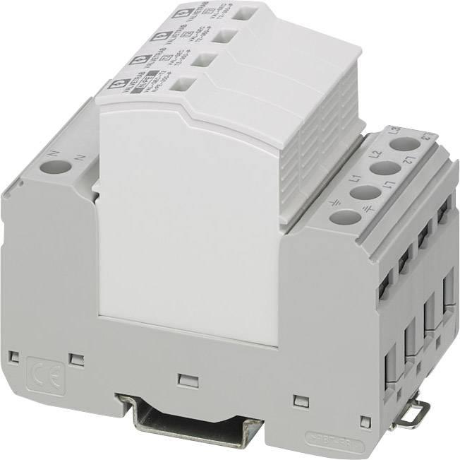 Přepěťová ochrana pro skřínový rozvaděč Phoenix Contact VAL-SEC-T2-3S-350/40 2909637, 40 kA, světle šedá , dopravní šedá (RAL 7042)