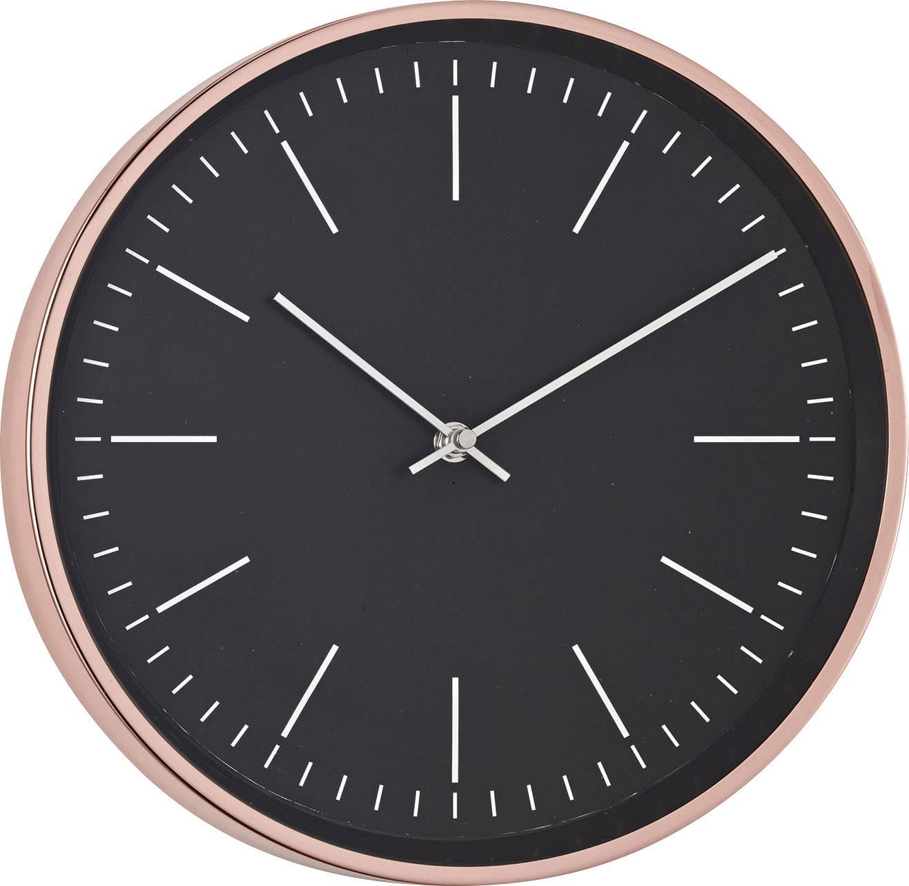 Quartz nástenné hodiny Mebus 18762, vonkajší Ø 30.5 cm, meď