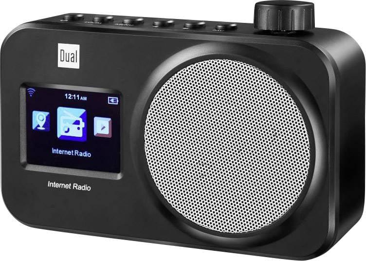 Internetové prenosné rádio Dual IR 11, Wi-Fi, čierna