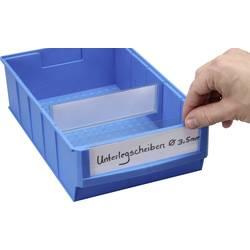 Allit ProfiPlus ShelfBox Label B 456597, bílá, transparentní