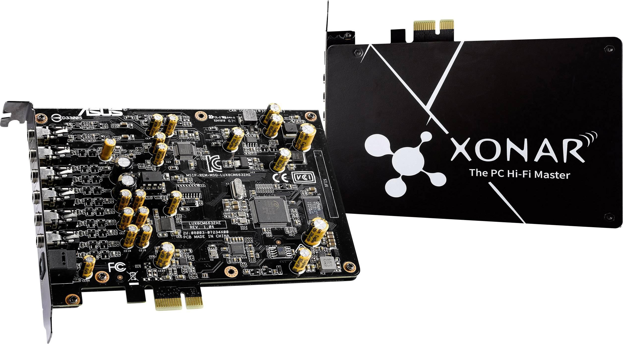 7.1 interní zvuková karta Asus Xonar AE PCIe digitální výstup, externí konektor na sluchátka