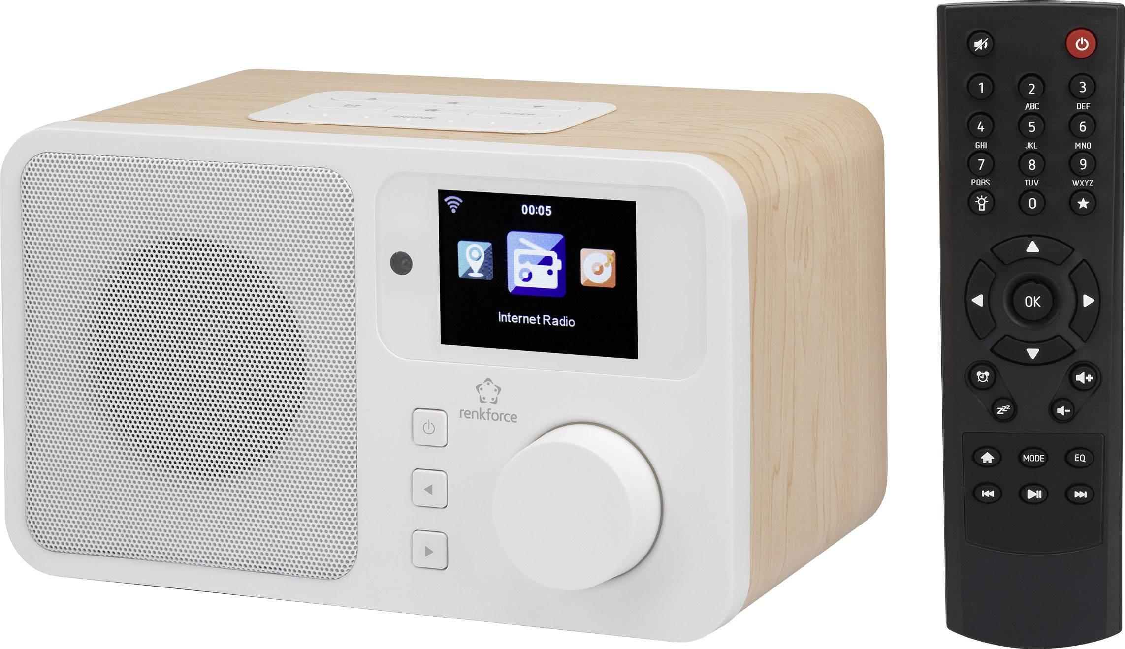 Internetové stolní rádio Renkforce RF-IR-RETRO1, AUX, internetové rádio, Wi-Fi, dřevo
