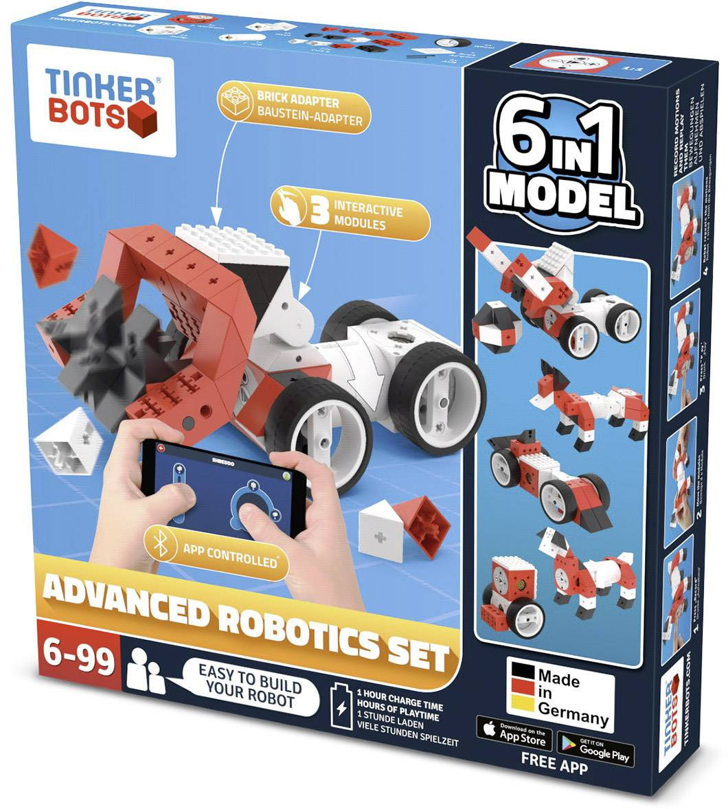 Stavebnica robota TINKERBOTS Robotics Advanced Set