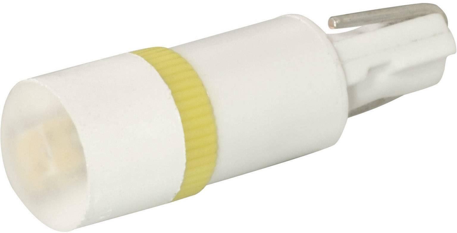 LEDžiarovka Signal Construct MWTW4662, W 2 x 4,6 d, 12 V/DC, 12 V/AC, 500 mcd, biela